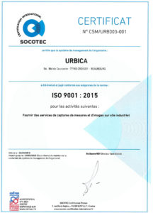 Certification ISO 9001:2015 de URBICA