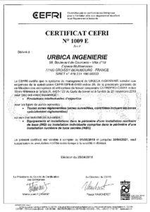 Certificat CEFRI 2018